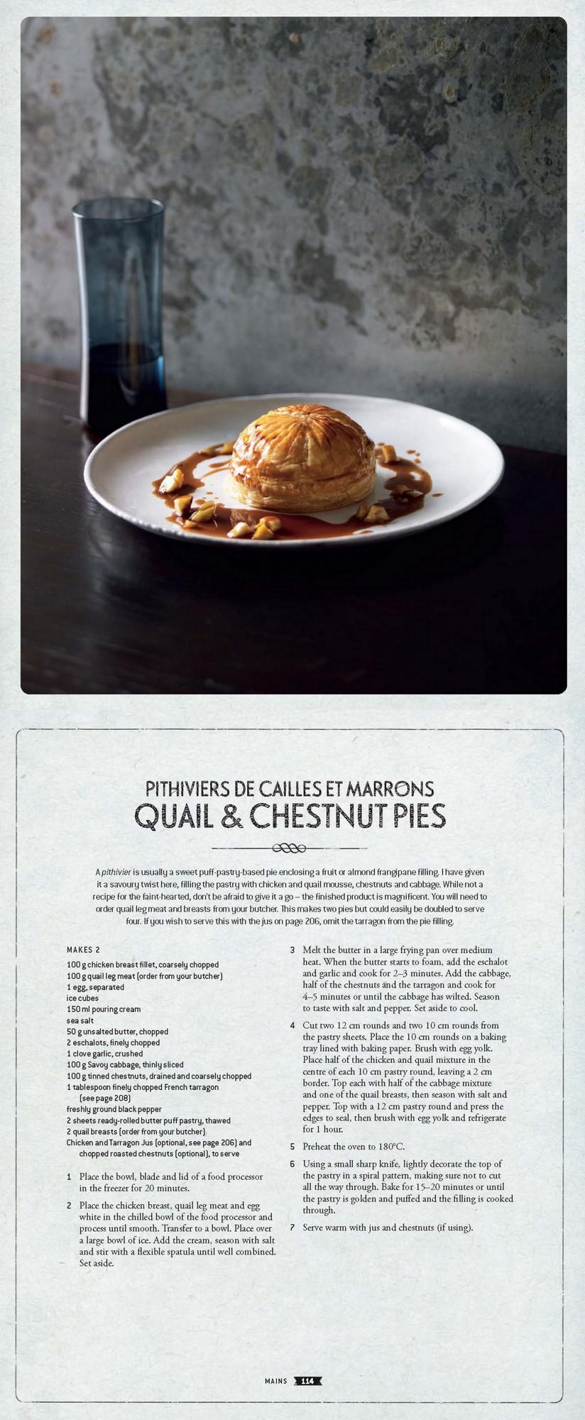 French Bistro - Quail Pie