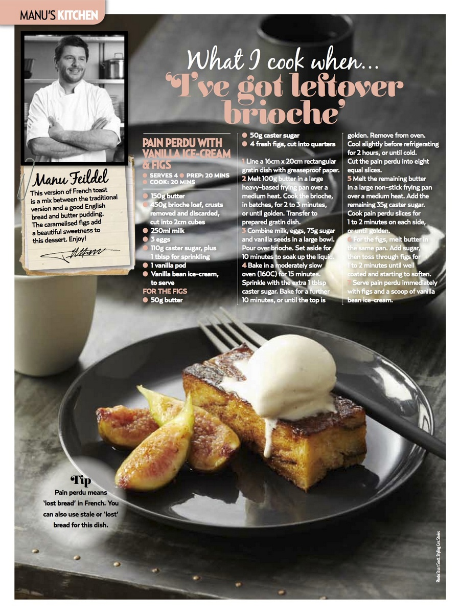 Pain Perdu with Vanilla Ice-Cream & Figs