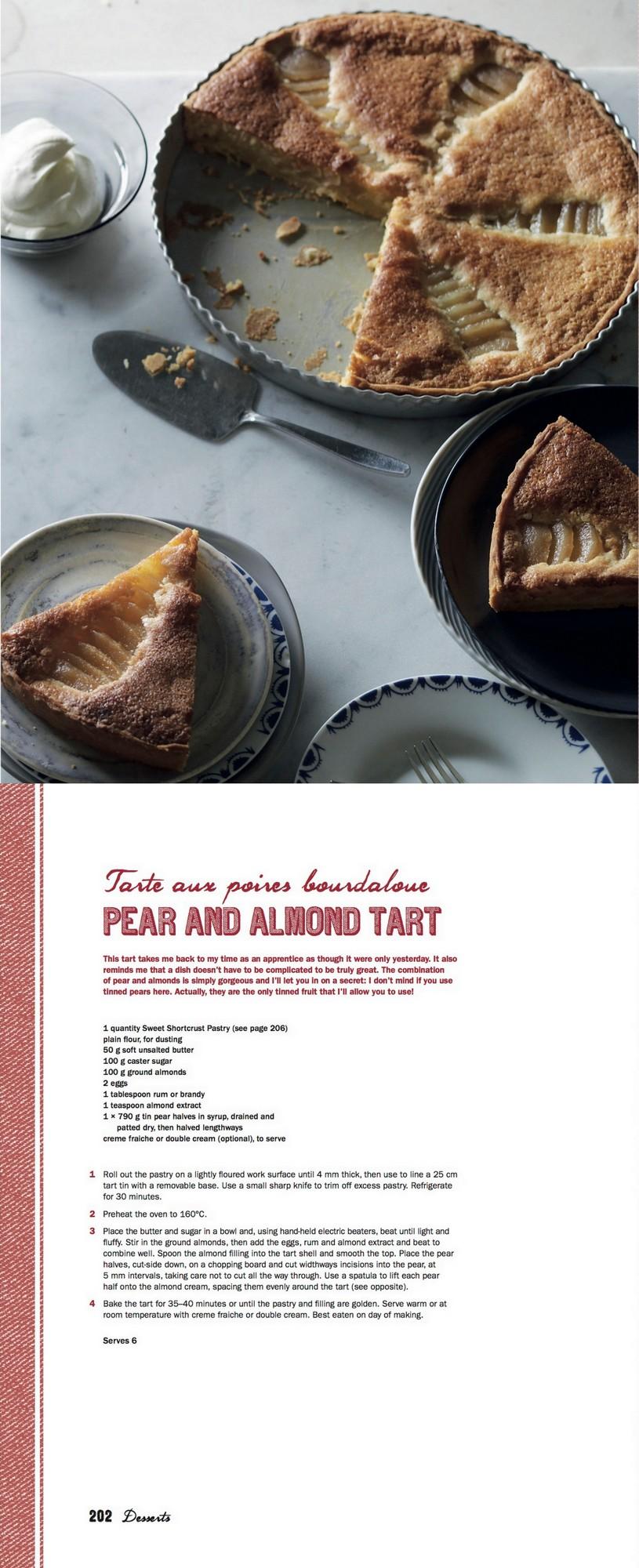 Manu's French Kitchen - Pear Tart
