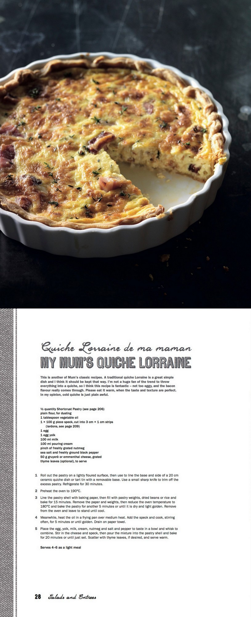Manu's French Kitchen - Quiche