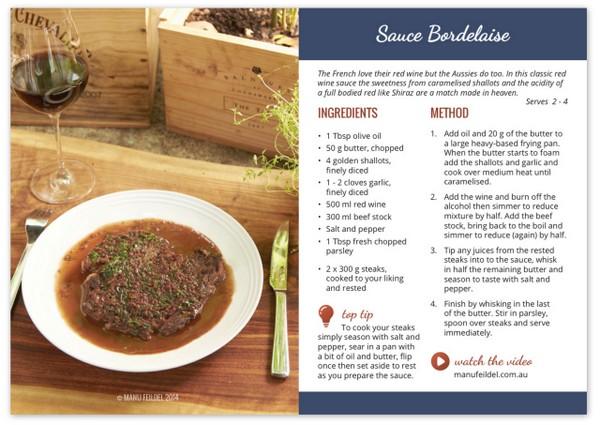 Sauce Bordelaise Recipe Card