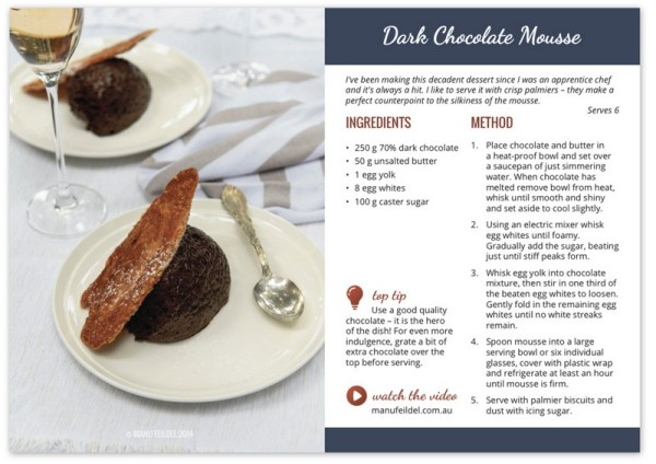 Dark Chocolate Mousse - Recipe Card