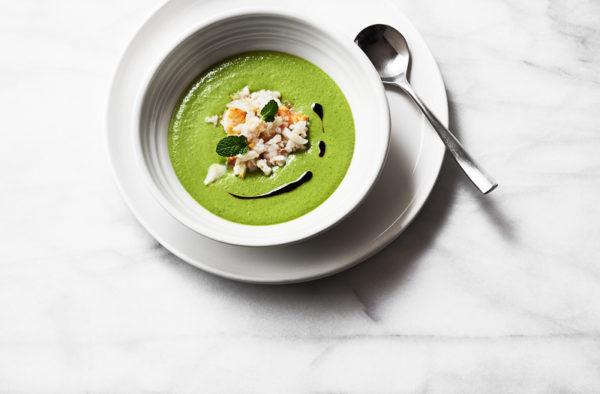 ATW with Manu - Pea Soup Crab Salad