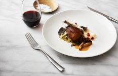 Roasted Pigeon with Celeriac Puree & Truffle Cabbage