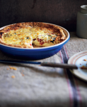 Tomato, Goats Feta and Basil Quiche with Shortcrust Pastry