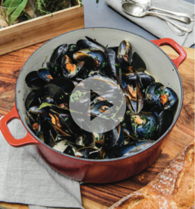 Mussels with Speck & Cider